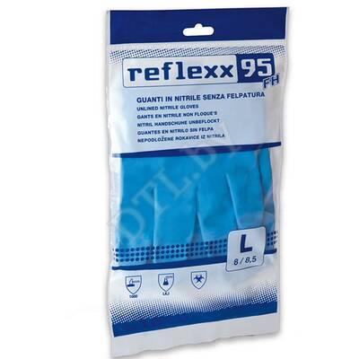 Многоразовые защитные перчатки, нитриловые 33 см. Reflexx, размер L