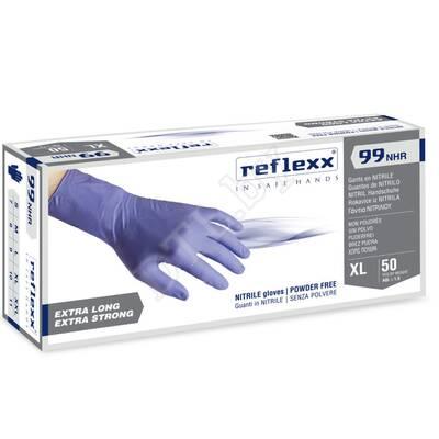 Одноразовые перчатки химостойкие сверхдлинные 29 см. Reflexx, размер L, 50 шт.