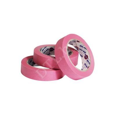 Маскирующая малярная лента 80°С, розовая 25 мм*40 м