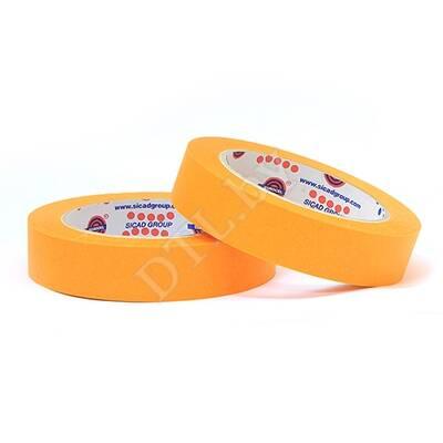 Маскирующая малярная лента 80°С, оранжевая 25 мм*40 м