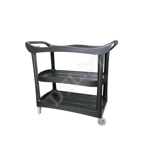 Пластиковый стол на колесиках. Место полировщика.