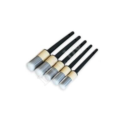 Кисточки с мягким искусственным ворсом, комплект 5 шт.